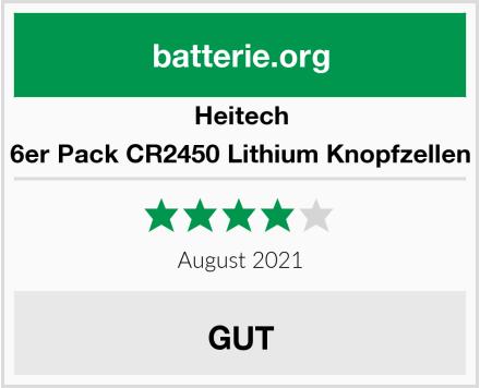Heitech 6er Pack CR2450 Lithium Knopfzellen Test