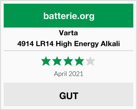 Varta 4914 LR14 High Energy Alkali Test