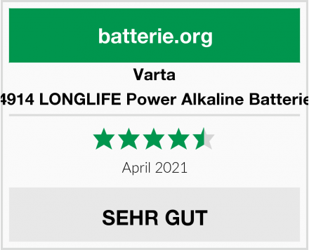 Varta 4914 LONGLIFE Power Alkaline Batterie Test