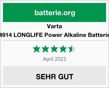 Varta 4914 LONGLIFE Power Alkaline Batterie Test