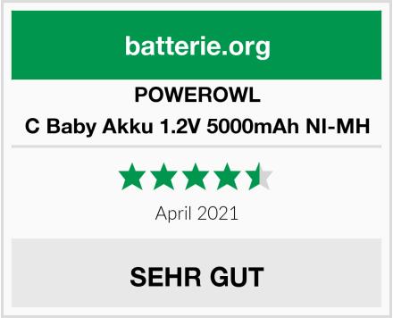 POWEROWL C Baby Akku 1.2V 5000mAh NI-MH Test