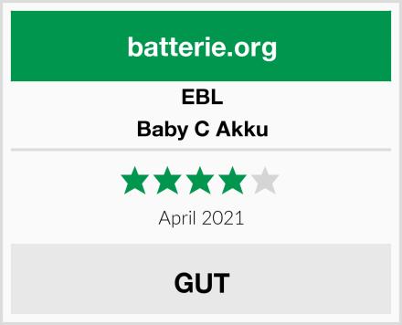 EBL Baby C Akku Test