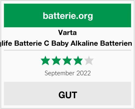 Varta Longlife Batterie C Baby Alkaline Batterien LR14 Test