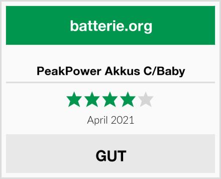 PeakPower Akkus C/Baby Test