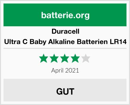 Duracell Ultra C Baby Alkaline Batterien LR14 Test