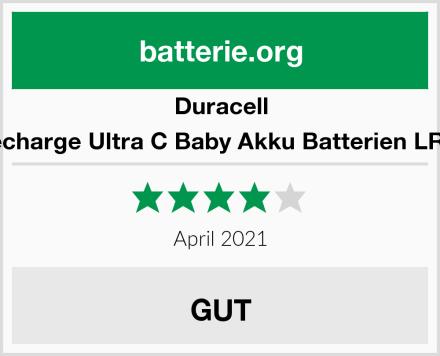 Duracell Recharge Ultra C Baby Akku Batterien LR14 Test