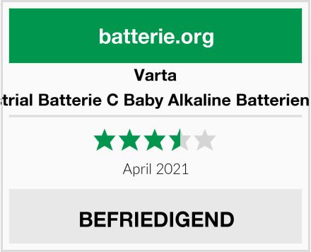 Varta Industrial Batterie C Baby Alkaline Batterien LR14 Test