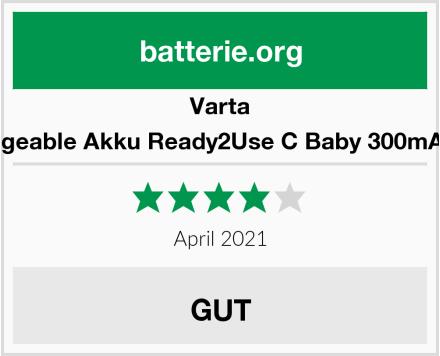 Varta Rechargeable Akku Ready2Use C Baby 300mAh NiMh Test