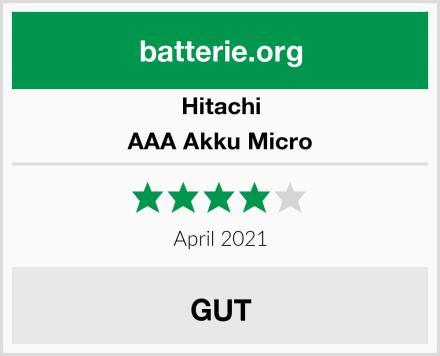 Hitachi AAA Akku Micro Test