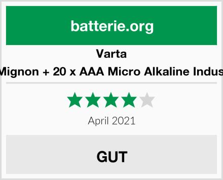 Varta 20 STK AA Mignon + 20 x AAA Micro Alkaline Industrial Quality Test