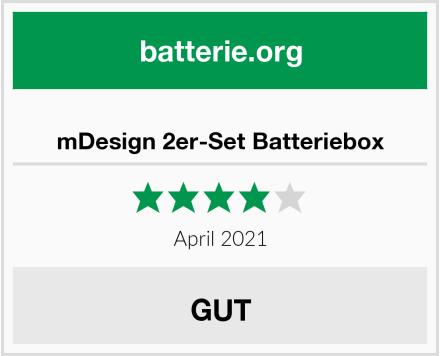 mDesign 2er-Set Batteriebox Test