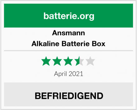 Ansmann Alkaline Batterie Box Test