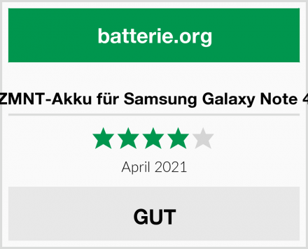 ZMNT-Akku für Samsung Galaxy Note 4 Test