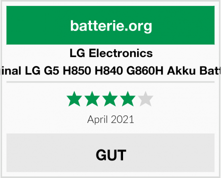 No Name Original LG G5 H850 H840 G860H Akku Batterie Test