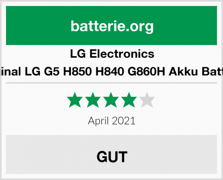 LG Electronics Original LG G5 H850 H840 G860H Akku Batterie Test