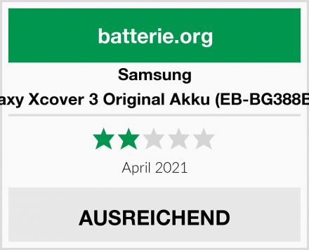 Samsung Galaxy Xcover 3 Original Akku (EB-BG388BBE) Test