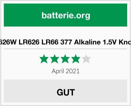 AG4 SR626W LR626 LR66 377 Alkaline 1.5V Knopfzellen Test