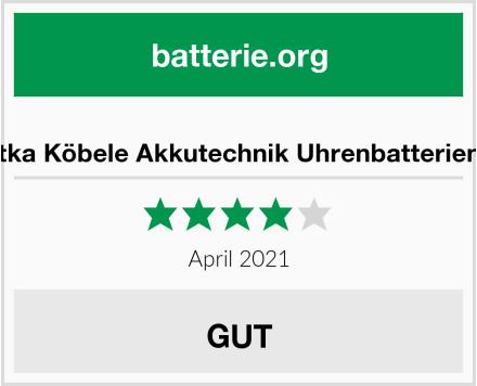 No Name tka Köbele Akkutechnik Uhrenbatterien Test