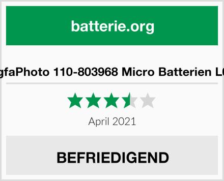 AgfaPhoto 110-803968 Micro Batterien L03 Test