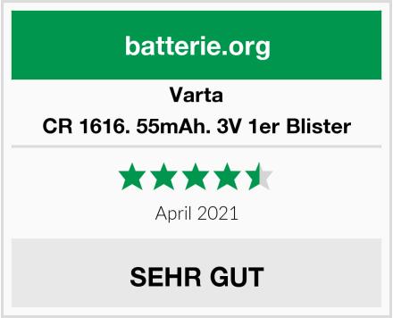Varta CR 1616. 55mAh. 3V 1er Blister Test