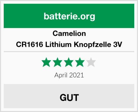 Camelion CR1616 Lithium Knopfzelle 3V Test