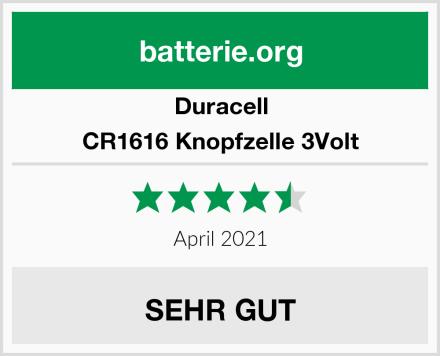 Duracell CR1616 Knopfzelle 3Volt Test