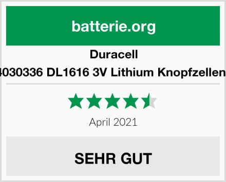 Duracell 5000394030336 DL1616 3V Lithium Knopfzellenbatterie Test