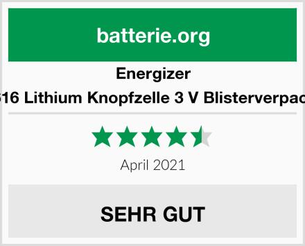 Energizer CR1616 Lithium Knopfzelle 3 V Blisterverpackung Test
