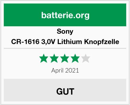 Sony CR-1616 3,0V Lithium Knopfzelle Test