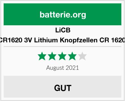 LiCB 10 Stück CR1620 3V Lithium Knopfzellen CR 1620 Batterien Test