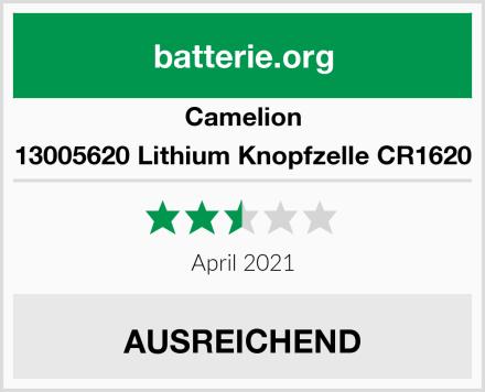 Camelion 13005620 Lithium Knopfzelle CR1620 Test