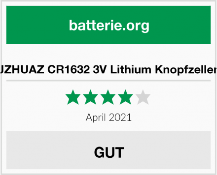 JZHUAZ CR1632 3V Lithium Knopfzellen Test