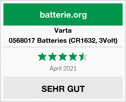 Varta 0568017 Batteries (CR1632, 3Volt) Test