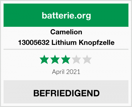 Camelion 13005632 Lithium Knopfzelle Test