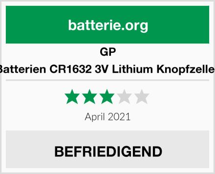 GP Batterien CR1632 3V Lithium Knopfzellen Test