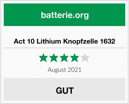 No Name Act 10 Lithium Knopfzelle 1632 Test