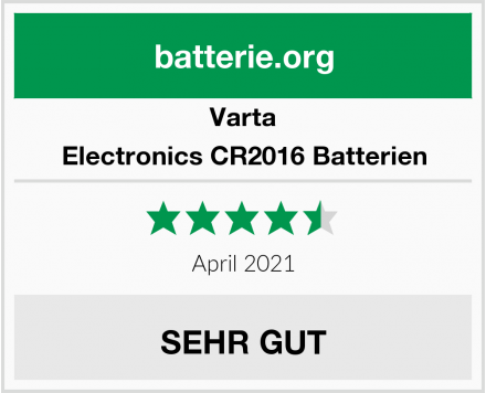 Varta Electronics CR2016 Batterien Test