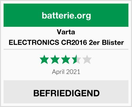 Varta ELECTRONICS CR2016 2er Blister Test