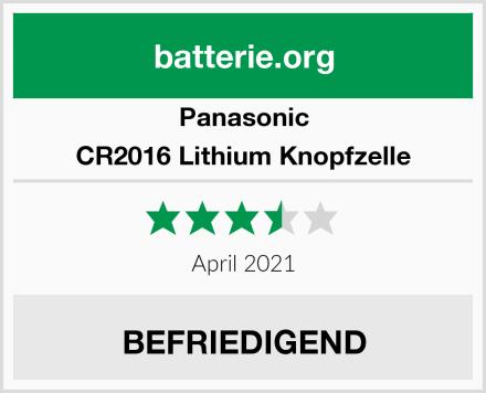 Panasonic CR2016 Lithium Knopfzelle Test