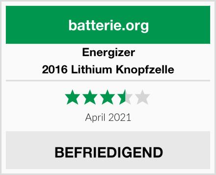 Energizer 2016 Lithium Knopfzelle Test