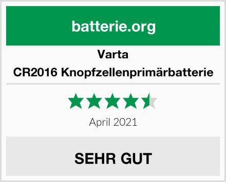 Varta CR2016 Knopfzellenprimärbatterie Test