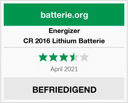 Energizer CR 2016 Lithium Batterie Test