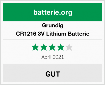 Grundig CR1216 3V Lithium Batterie Test