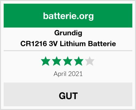 Grundig CR1216 3V Lithium Batterie Test