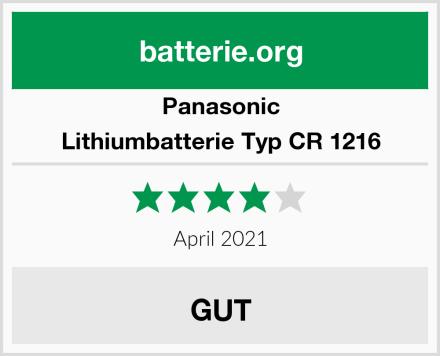 Panasonic Lithiumbatterie Typ CR 1216 Test