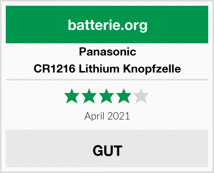 Panasonic CR1216 Lithium Knopfzelle Test