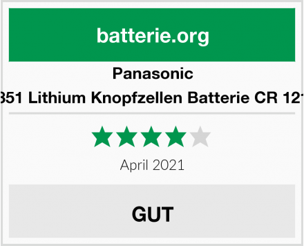 Panasonic 1851 Lithium Knopfzellen Batterie CR 1216 Test