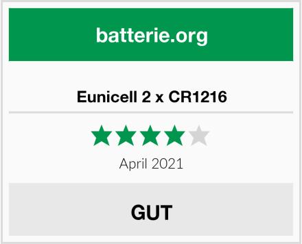Eunicell 2 x CR1216 Test