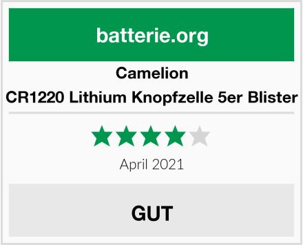 Camelion CR1220 Lithium Knopfzelle 5er Blister Test