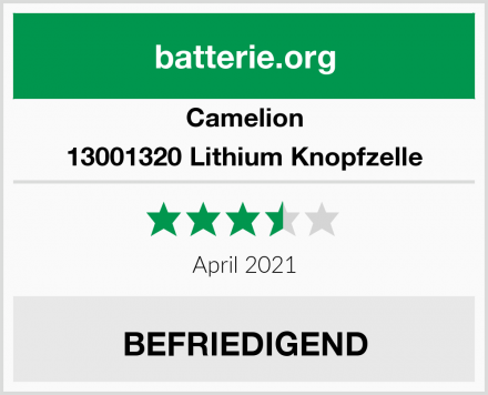 Camelion 13001320 Lithium Knopfzelle Test